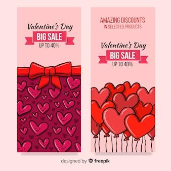 Comic valentine sale banner