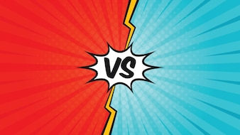 Comic Versus Template Background