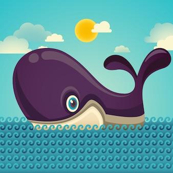 Comic whale