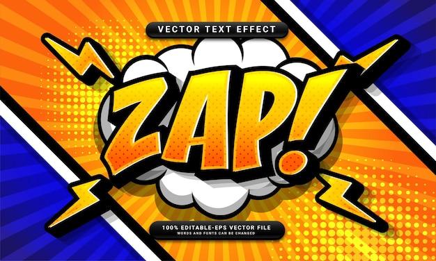 Редактируемый текстовый эффект комиксов подходит для концепции мультяшного стиля