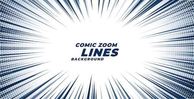 Comic zoom motion lines background