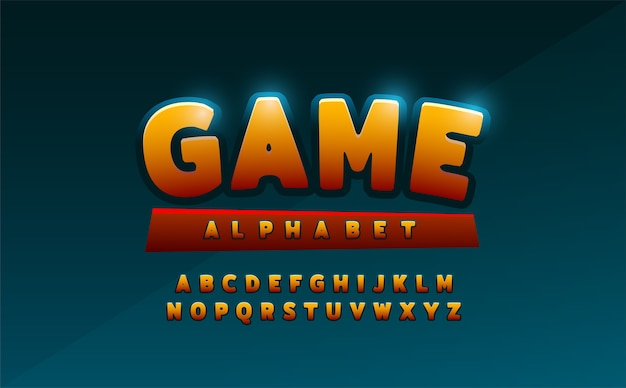 Comics alphabet font. typography comic logo designs