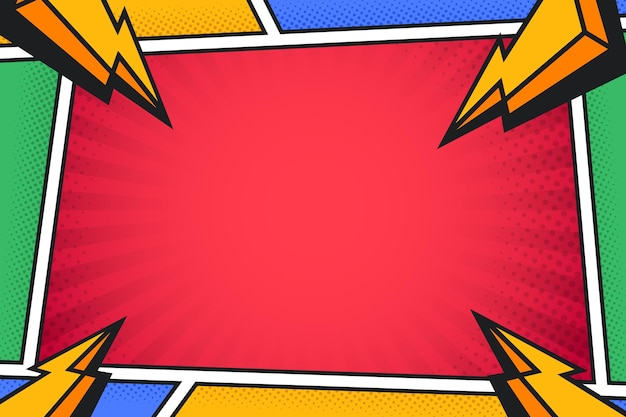 Comics background with halftone effect