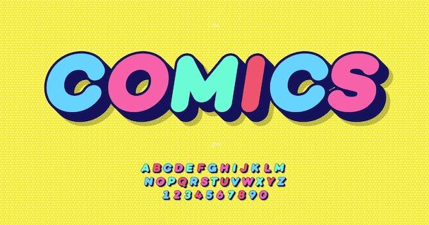 Комиксы жирный шрифт красочный стиль типография