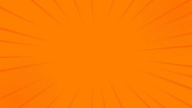 Comics rays orange background with halftones.  in retro pop art style for comics book, poster, advertising design