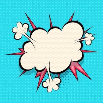 Comics speech bubble cloud for text pop art design