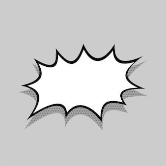 텍스트 팝 아트 디자인을 위한 만화 말풍선 문자 메시지 태그를 위한 흰색 빈 대화 구름