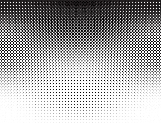コミックスタイルブラックホワイトフラットグラデーションパターン