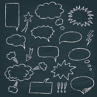 Comics style speech bubbles set