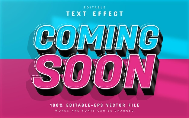 Coming soon 3d text effect