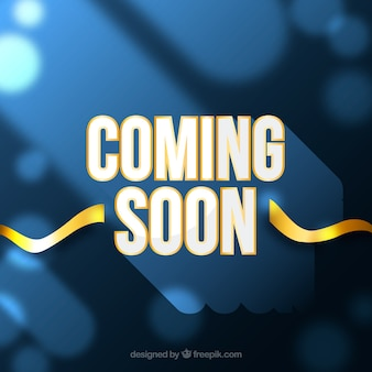 Coming soon background with typography