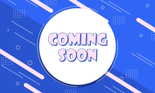 Coming soon banner background with light color lines.