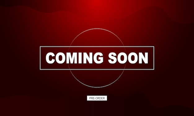 Coming soon banner background with simple dark. vector illustration.