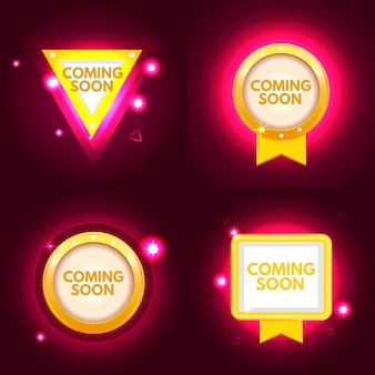 Coming soon banner set