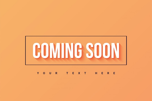 Coming soon banner template