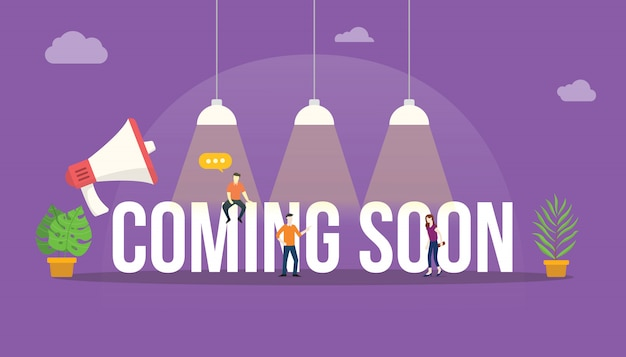 Coming soon big word text