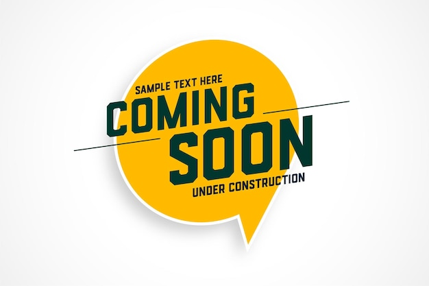 Coming soon under construction illustration design