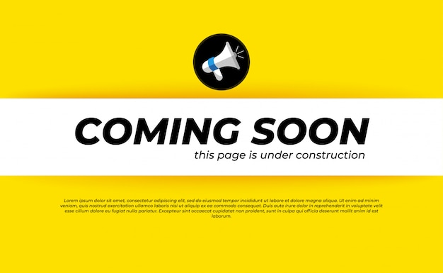 Coming soon under construction template Premium Vector