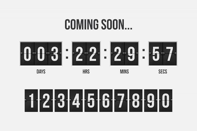 Coming soon countdown timer  illustration