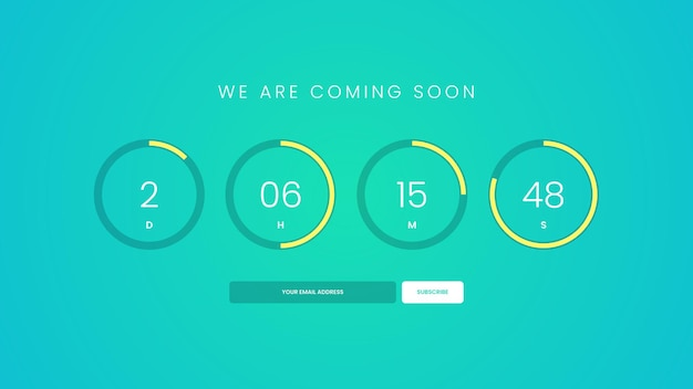 Coming soon countdown timer for website
