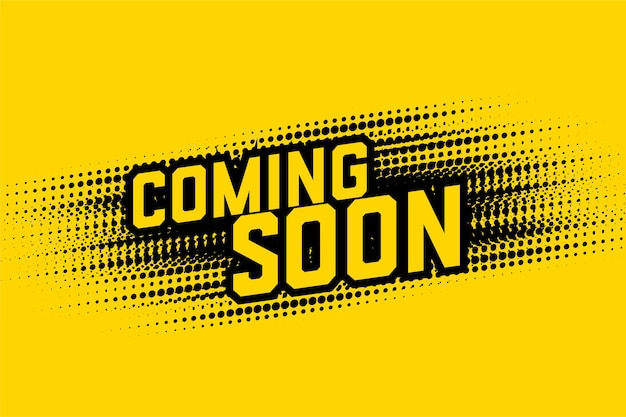 Coming soon halftone style design background template
