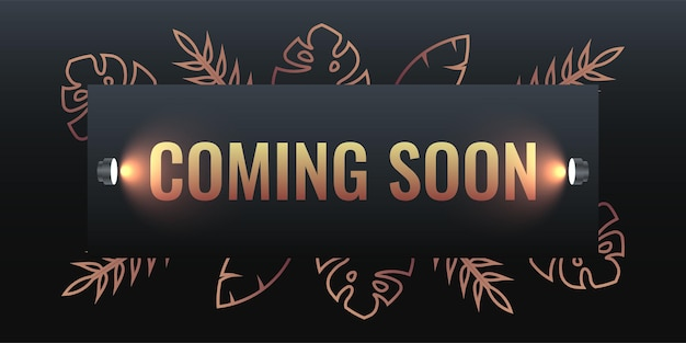 Coming soon illustration template design