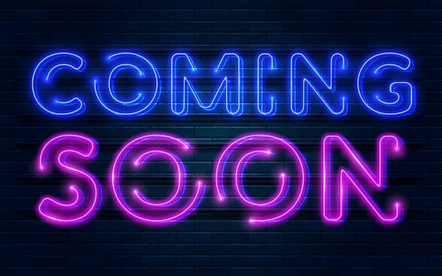 Coming soon neon sign