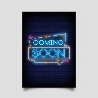 Coming soon, in neon style. coming  soon neon signs.