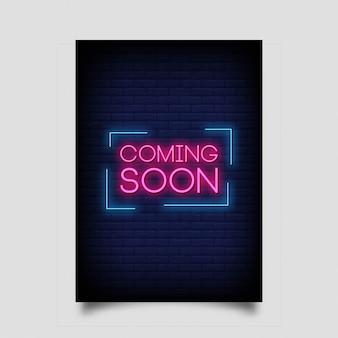 Coming soon neon