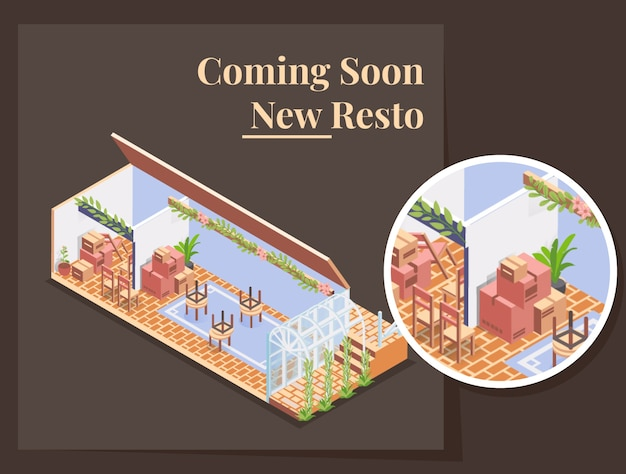 Coming soon, open soon, new resto cafe