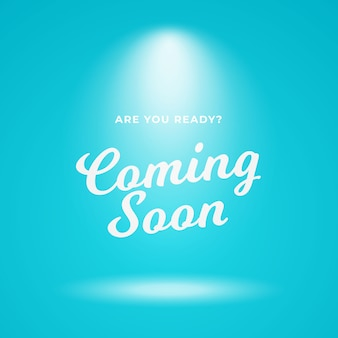 Coming soon poster background vector design.
