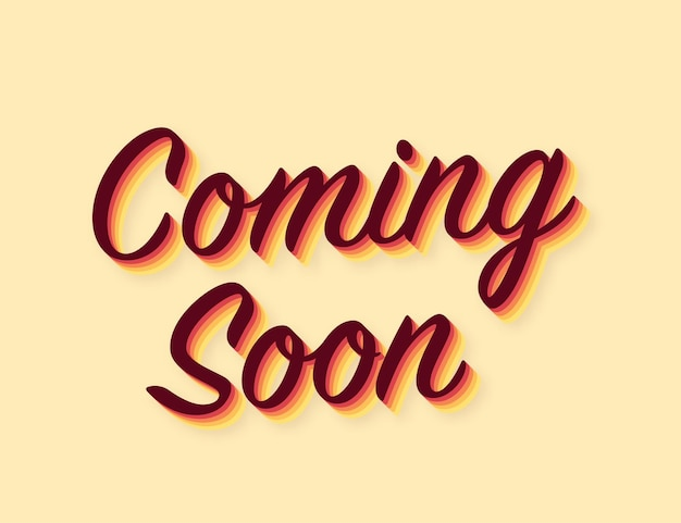 Coming soon sign. advertising sign. vector stock illustration.