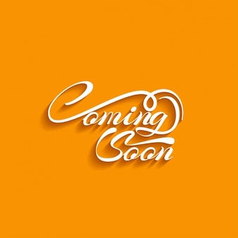 Coming soon text orange background