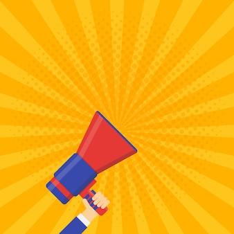 Coming soon vector banner. announcement megaphone vector