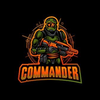 Commander талисман логотип киберспорт игры
