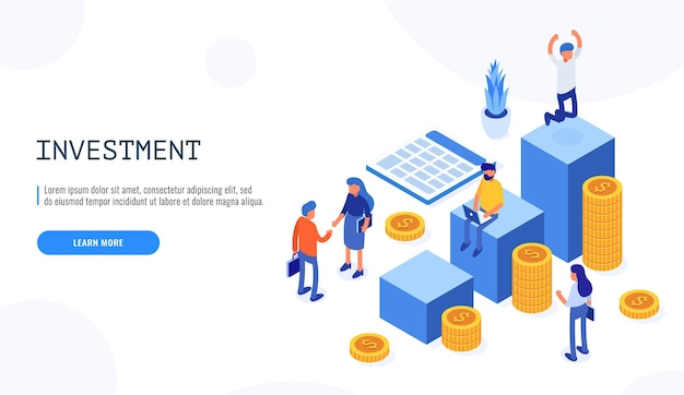 Commerce solutions for investments, analysis concept.