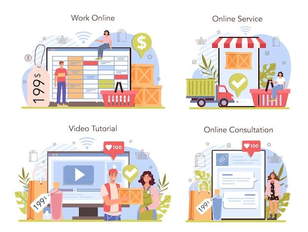 상업 활동 온라인 서비스 또는 플랫폼 집합입니다. 기업가 퍼팅