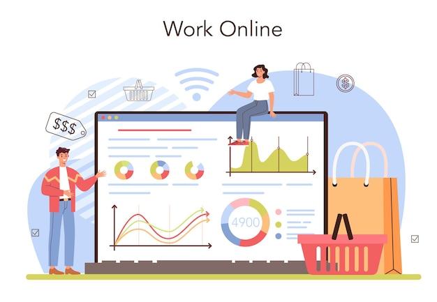 Commercial activities online service or platform entrepreneur stocktaking