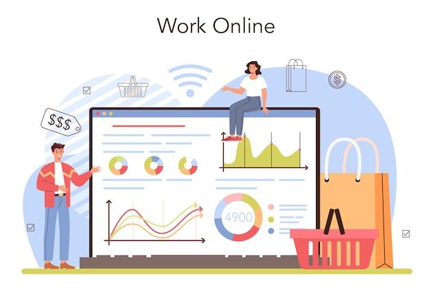 상업 활동 웹 배너 또는 방문 페이지 판매 자극