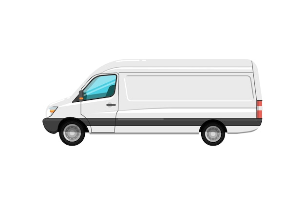 Commercial cargo van isolated icon
