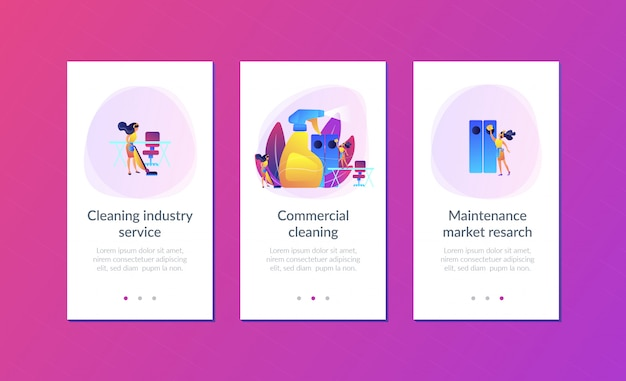 Commercial cleaning app interface template