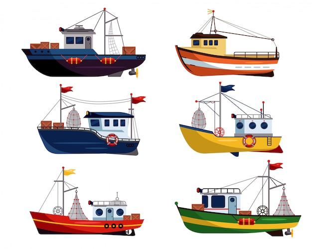 Commercial fishing trawler for fishery industrial