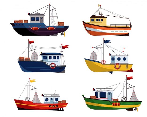 Коммерческий рыболовный траулер для промышленного рыболовства