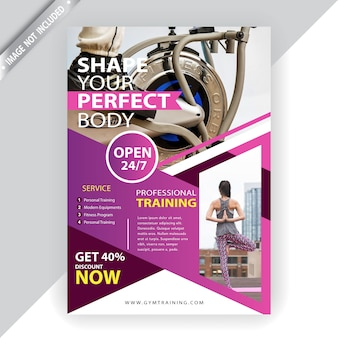 Commercial fitness flyer template