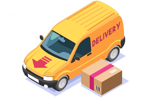 Commercial freight delivery illustration