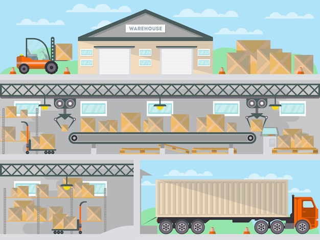 Commercial freight service business banner