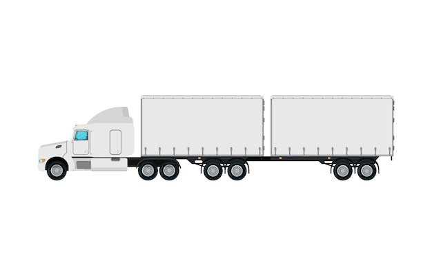 Commercial freight truck isolated icon