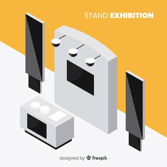 Commercial isometric stand exhibition concept