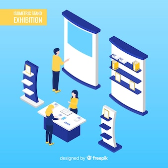 Commercial isometric stand exhibition design