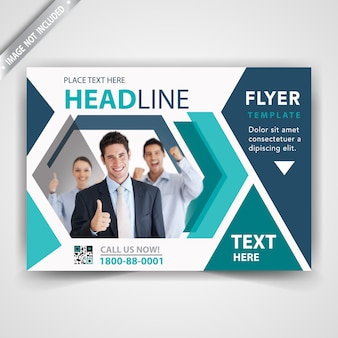 Commercial modern flyer cover
